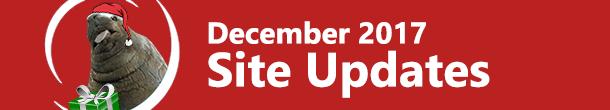 December 2017 Site Updates